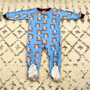 Carter's 18 month boy dog zip up pajamas